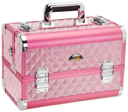 SHANY Cosmetics SHANY Premium Collection Makeup Train Case, Hot Pink Diamond