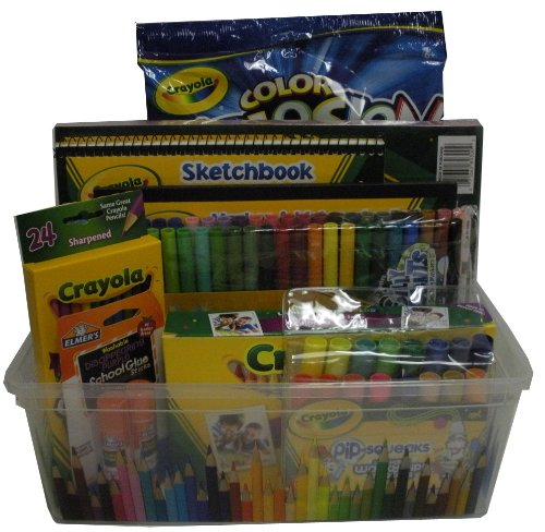 Crayola Gift Basket - for Get Well, Birthday, Easter, Christmas, or Other Special Ocassion
