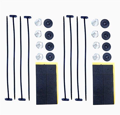 8milelake Electric Radiator Fan Tie Strap Mounting Kit Plastic Rod Mounting Kit ( Pack of 2) (Radiator Mounting Kit compare prices)