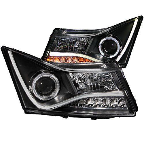 Anzo USA 121409 Black Halo Projector Headlight with Clear Lens for Chevy Cruze (2012 Chevy Cruze Halo Headlights compare prices)