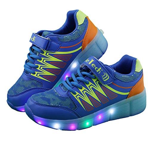 ilifetecha40-led-heelys-ricaricabili-da-ragazza-unisex-per-bambini-ragazzi-blu-blu-bambino-235-eu