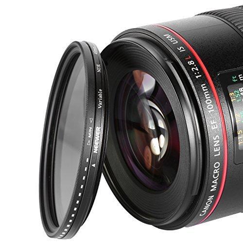 Neewer Filtre 49 mm à densité neutre Variable ajustable pour appareil photo
