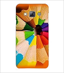 PrintDhaba Coloured Pencils D-2719 Back Case Cover for SAMSUNG GALAXY A3 (Multi-Coloured)