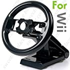 Recentering Steering Wheel + Multi-axis Stand for Nintendo Wii Car Racing Games GWIISW03