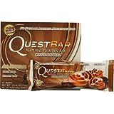 Quest Nutrition QuestBar Protein Bar Cinnamon Roll -- 12 2.12oz Bars