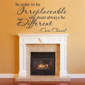Be Irreplaceable One Must Always Be Different Coco Chanel Quote Vinyl