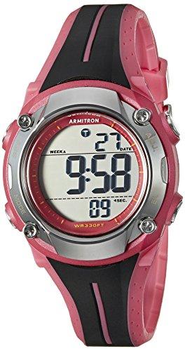 armitron-sport-femme-45-7063pnk-chronographe-numerique-noir-et-rose-montre-avec-bracelet-en-resine