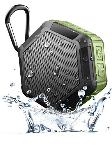 Mopo Bluetooth スピーカー 防水仕様 マイク搭載通話可能 12時間連続再生 NFC対応 Bluetooth 4.0ポータブル ワイヤレススピーカー アウトドア/野外対応 (グリーン)