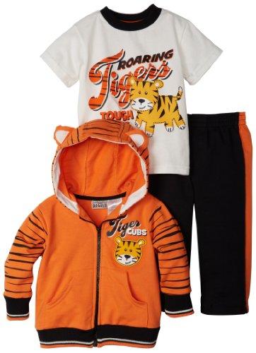 Little Rebels Baby-Boys Infant Hooded Jacket, Pullover and Pant, Orange, 24 Months