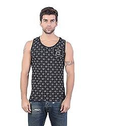 Funky Black Star Printed Vest by Bfly