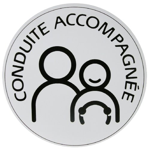 "Carlinea 463264 ""Conduite Accompagnée"" (supervisados controlador) magnético adhesivo [idioma francés]"