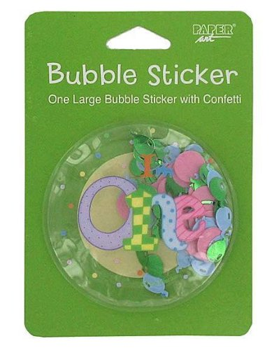 My 1St Birthday Bubble Sticker Case Pack 42