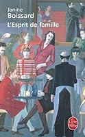 L'Esprit de famille, tome 1