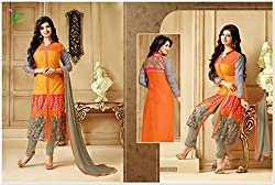 DEEP COLLECTIONS Designer Embroidery Semi-Stiched Salwar Suit DC-14004