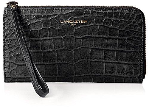 lancaster-paris-womens-exotic-croco-embossed-wristlet-black