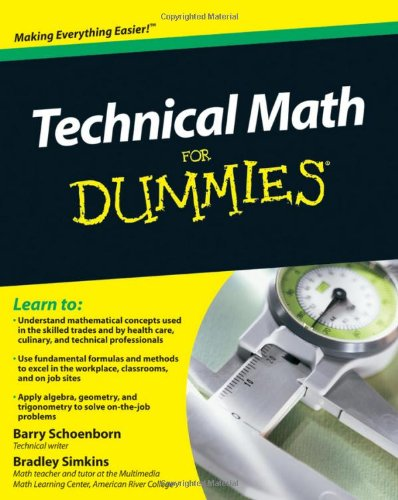Technical Math For Dummies front-1055143