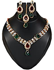 Bhavika Exim's Multicolored Metal Necklace Set For Women - B01KX92FLO