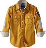 Nautica Little Boys' Long Sleeve Woven Shirt
