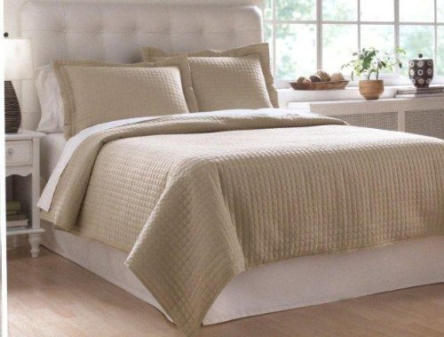 Superior Buy Whole Home Faux Silk Twin Bed Coverlet, 3 Piece, Taupe At Best Price