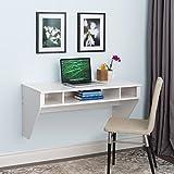 Designer Floating desk in White
