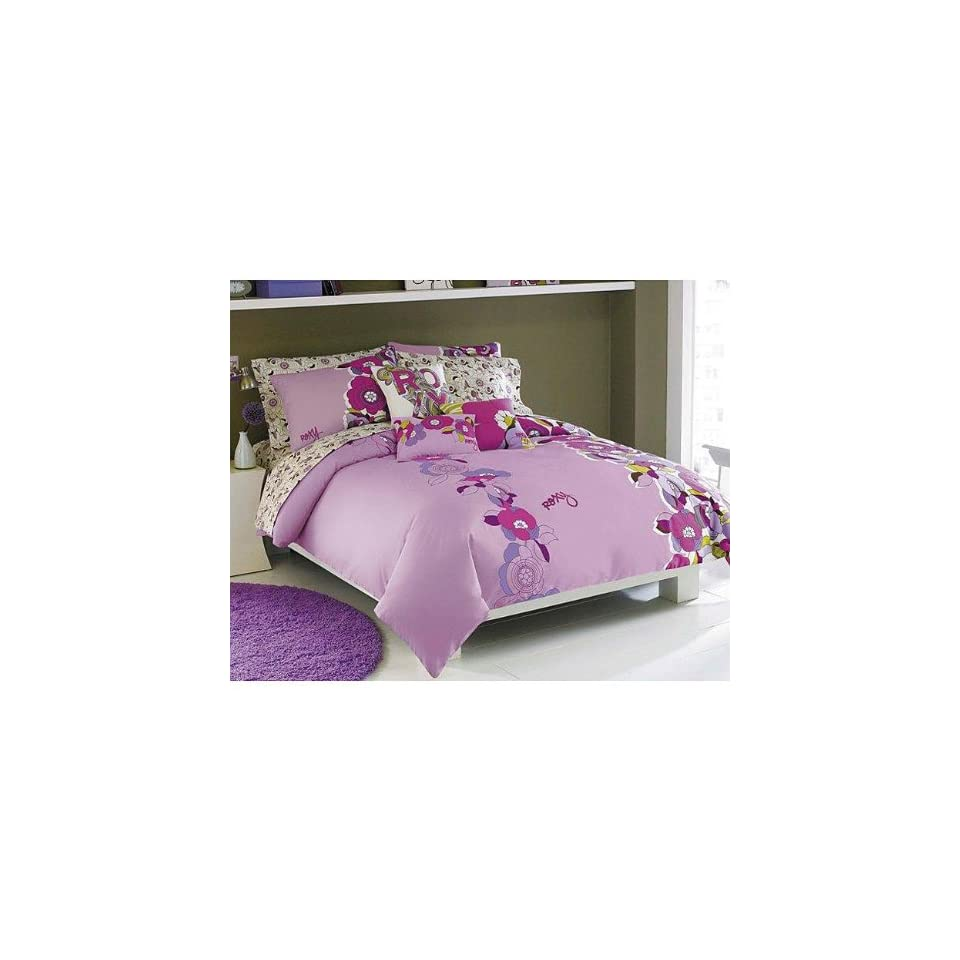 Roxy hot house 8 piece twin twin xl bed in a bag comforter