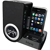 iHome IP41BV Rotating Alarm Clock for iPod and iPhone (Black)