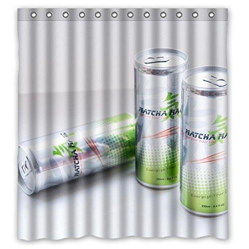 Energy Drinks durable fabric Shower Curtain Measure 66