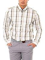 McGregor Camisa Hombre Elroy Ludo B Bd Cf Ls (Marrón / Beige / Blanco)