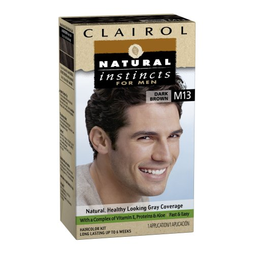 Clairol Natural Instincts Hair Color For Men M13 Dark Brown 1 Kit (Pack Of 3) front-571923