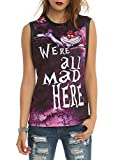 Disney Alice In Wonderland We're All Mad Girls Muscle Top
