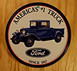 Ford Trucks Since 1917 Round Retro Vintage Tin Sign
