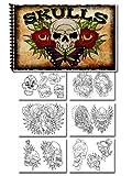 Tattoo Skulls Designs Sketchbook Flash 30 pages
