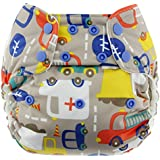 Blueberry Simplex All In One Diaper, Traffic, One Size