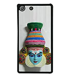 Colourful South Indian Dance Facemask 2D Hard Polycarbonate Designer Back Case Cover for Sony Xperia M5 Dual :: Sony Xperia M5 E5633 E5643 E5663