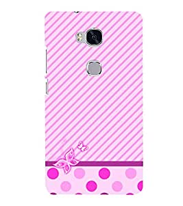 Purple Girly Butterfly 3D Hard Polycarbonate Designer Back Case Cover for Huawei Honor 5X :: Huawei Honor X5 :: Huawei GR5
