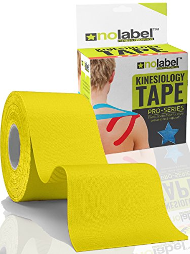 yellow-kinesiology-tape-uncut-5m-roll-no-label-pro-series-waterproof-sports-tape-helps-support-injur