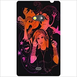 Nokia Lumia 625 Back Cover - Sing Along Designer Cases