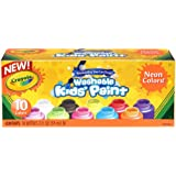 Crayola Washable Kid's Neon Paint Set, 2-Ounce, 10 Count