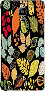 Snoogg Seamless Pattern With Leaf Designer Protective Back Case Cover For Sam...