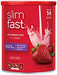 SlimFast, Strawberries N  Cream Prote…
