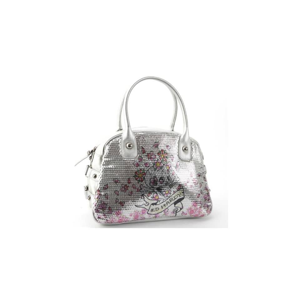 c7364fa3b4ad Ed Hardy Treasure Chest Adele Bowler Bag Silver on PopScreen