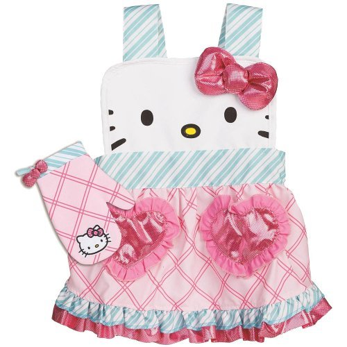 Hello-Kitty-Apron-with-Mitten