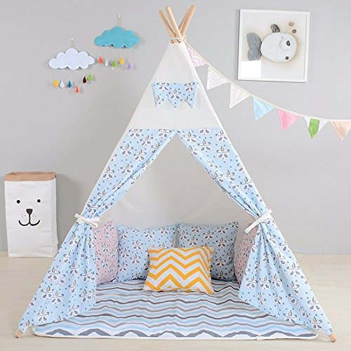 childrens-premium-quality-canvas-panda-teepee-kids-play-tent-playhouse-wigwam-tipi-by-integrity-co-b