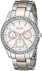 XOXO Women's XO5454 Rosegold And Silver-Tone Bracelet Watch
