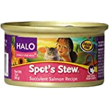 Halo Canned Cat Food - Salmon Formula - Case of 12 x 3 oz cans
