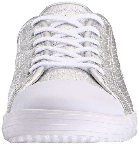 Lacoste Women's Ziane 116 1 Fashion Sneaker, Silver, 7 M US