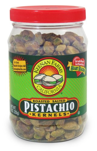 Keenan Farms Shelled Kernel Pistachio, Roasted Salted, 9-Ounce Jar (Pack of 3)