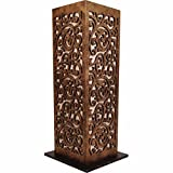 Butterfly Homes Wood Table Lamp, 8 X 8 X 18.5, Gold Bronze