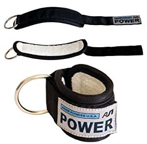 Ader Power Ankle Strap w/ Synthetic Wool, w/ Heavy Duty Snap Links, Sold As Pair from Ader Sporting Goods