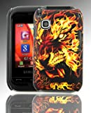 PointH Samsung Champ C3300K Printed Hard Shell Stylish Back Protection Case Cover Clip On Protection - Burning Tiger Design